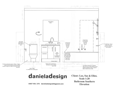 Toilet Elevation Plan : Bathroom design designer sydney leichhardt wall floor